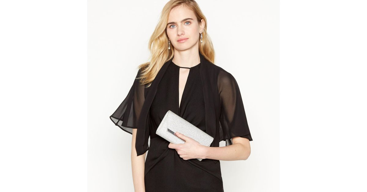 1cb7a3db5bb0b Début Black Cape Sleeve Chiffon Cover Up in Black - Lyst