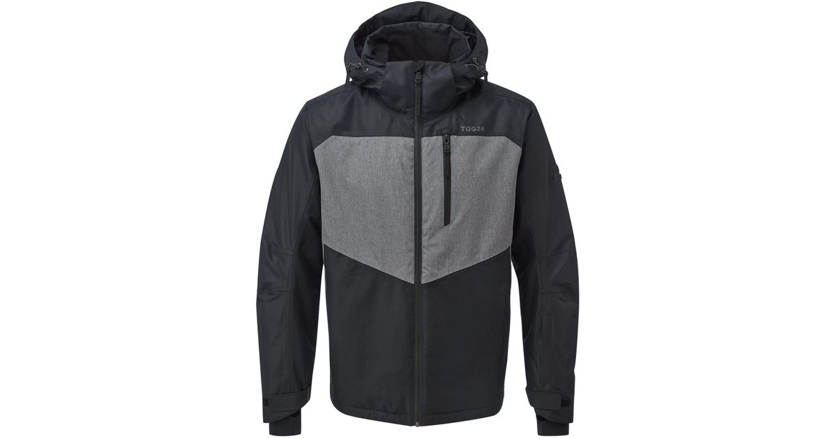 Tog 24 Black And Grey Marl Blade Mens Insulated Ski Jacket in Gray for Men  - Lyst 2d0ad9b58
