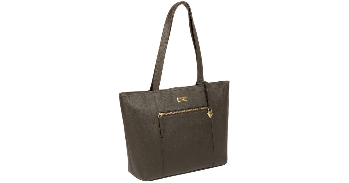 Cultured London Olive  dawn  Handmade Leather Tote Bag in Green - Lyst 1347a89c6b14c
