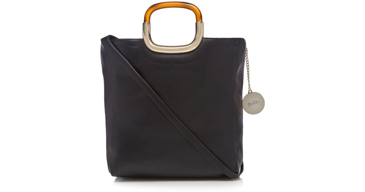 34b478467454 Faith Black Tortoiseshell Handle Grab Bag in Black - Lyst