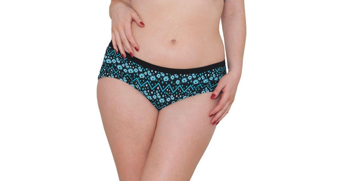 695b2ce133 Curvy Kate Floral Print  reflex  Bikini Bottoms in Blue - Lyst