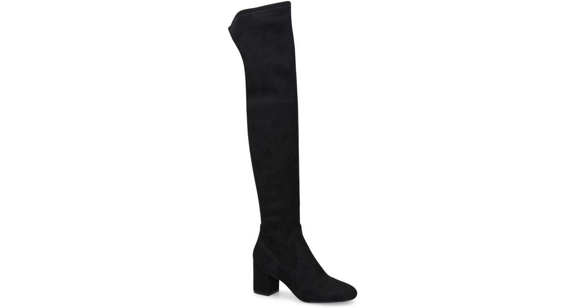 6150f4bc4bc ALDO Black  mirarecia  Suede Over The Knee Boots in Black - Lyst