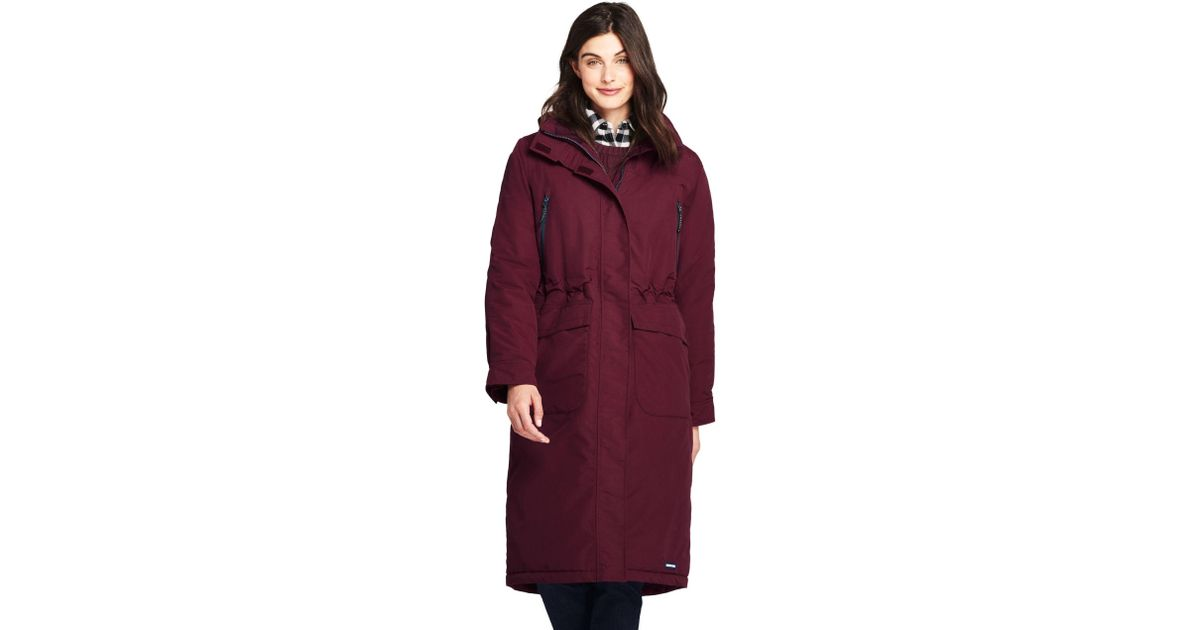 d873d0da82b Lands  End Red Squall Stadium Coat in Red - Save 9% - Lyst