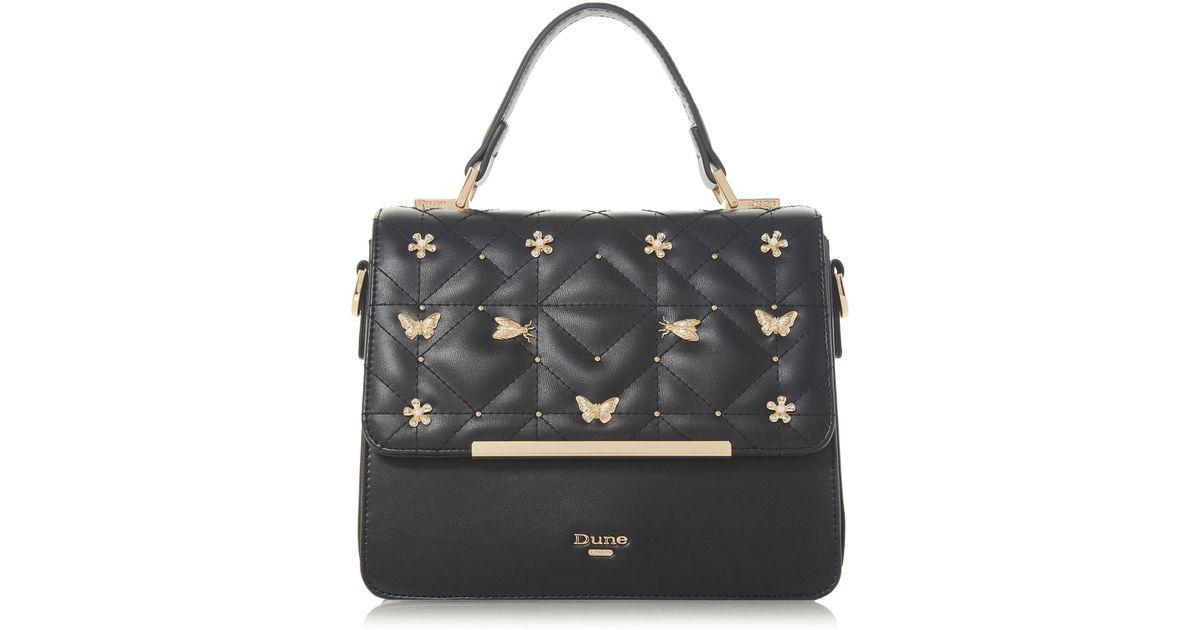 f51b13a885d1a Dune Dutterfly Medium Boxy Butterfly Bag in Black - Lyst