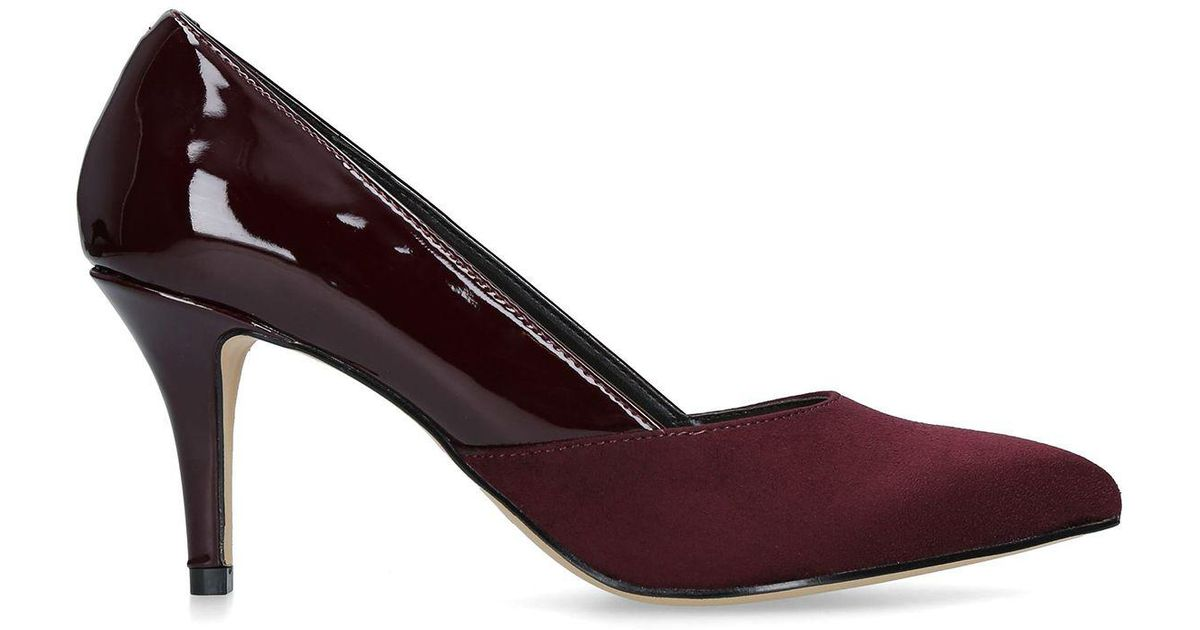 feb488fc031 Nine West Wine  fox  Mid Heel Court Shoes in Red - Lyst
