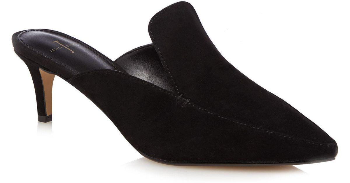 6fe0aae645d6 J By Jasper Conran Black Leather  jerry  Mules in Black - Lyst