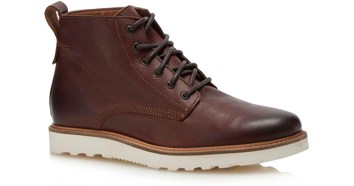 6229df863239 Red Herring Dark Tan Leather  meteor  Lace Up Boots in Brown for Men - Lyst