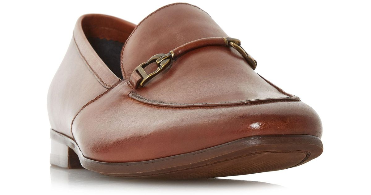 7f148606b44b7 Dune Paulinho Leather Loafers in Brown for Men - Lyst