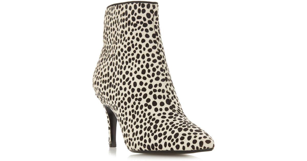 6e339e0f5f6 Dune Multicoloured Suede  oshaa  Mid Stiletto Heel Ankle Boots in Black -  Lyst
