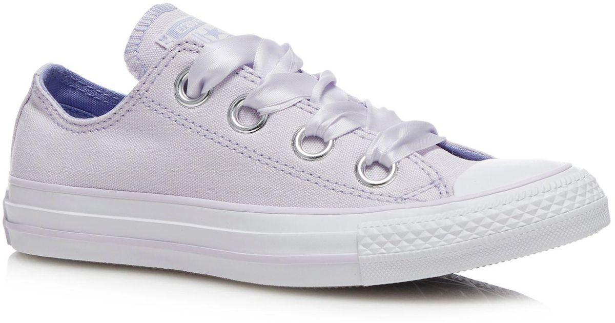 4d145db85c0a Converse Rose Canvas  big Eyelets  Trainers - Lyst
