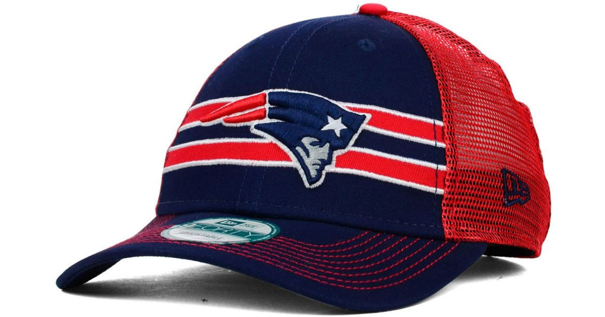 brand new 82c0f 34c3e Lyst - Ktz New England Patriots Frontband Trucker 9Forty Cap in Blue for Men