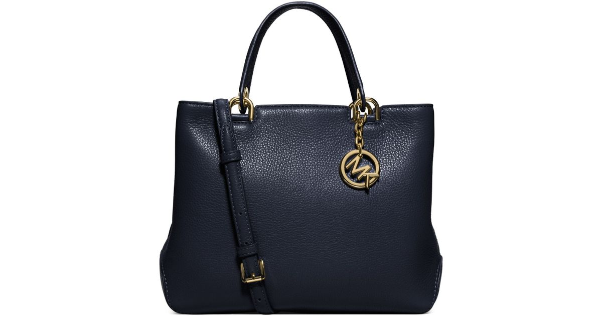 188133494efe Lyst - Michael Kors Anabelle Medium Leather Tote in Blue
