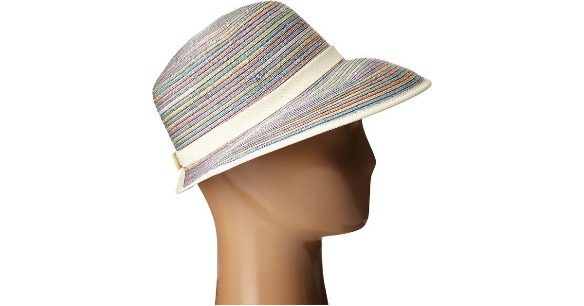 60c46652e8e8e Lyst - San Diego Hat Company Mxm1020 4 Inch Brim Sun Hat With Face Saver  Sun Brim