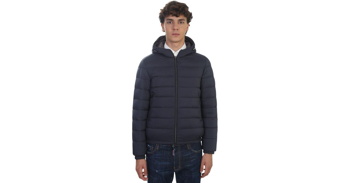 818ca67ce7d1 Herno Reversible Nylon Padded Jacket in Blue for Men - Lyst