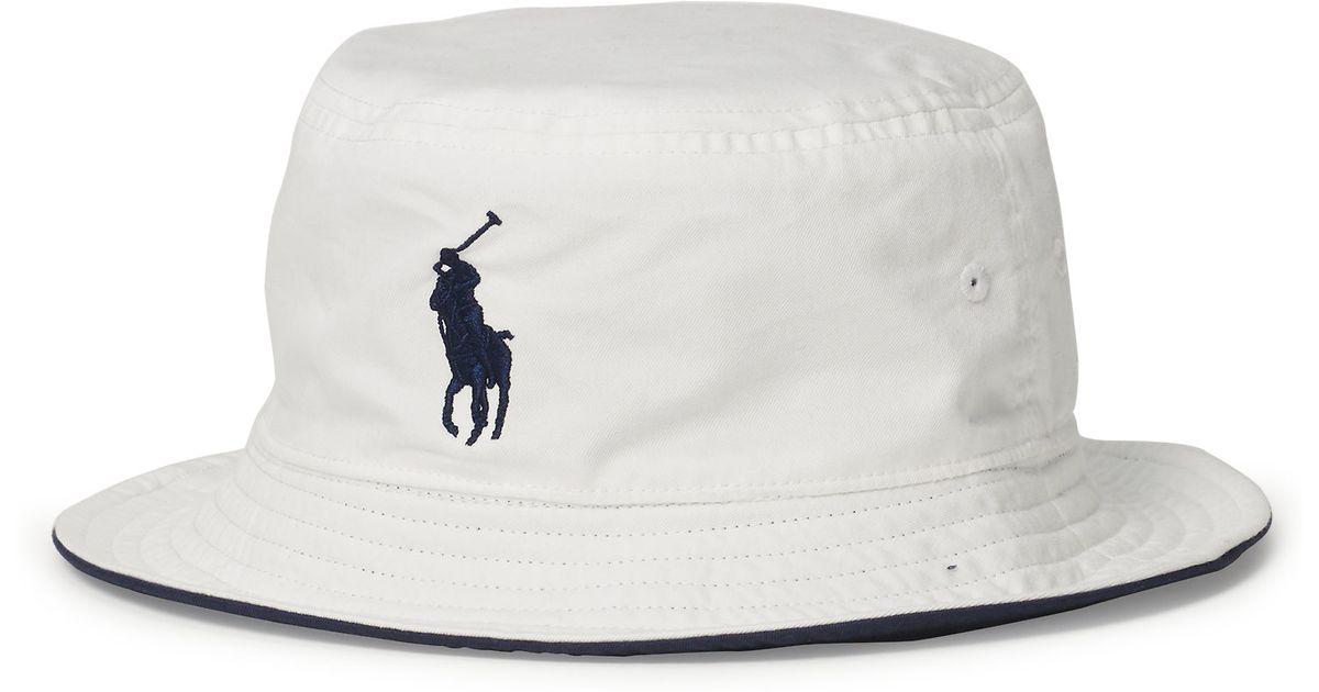 4249515bf08 Lyst - Polo Ralph Lauren Us Open Reversible Bucket Hat in White for Men