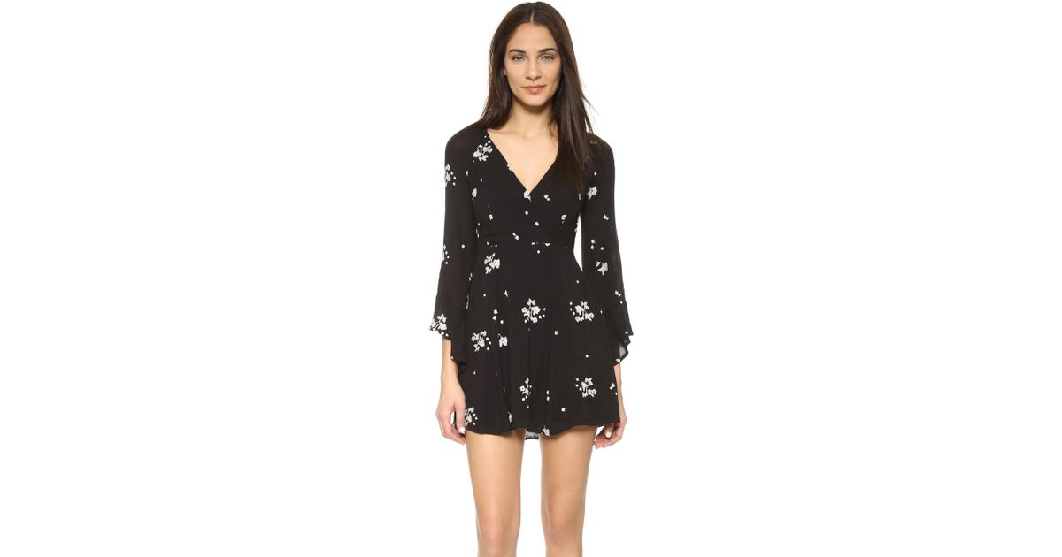 Free people jasmine embroidered mini dress in floral