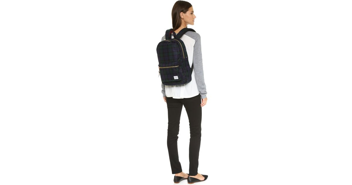 7dc00f7c44a0 Herschel Supply Co. Settlement Backpack - Black Watch Plaid in Blue - Lyst