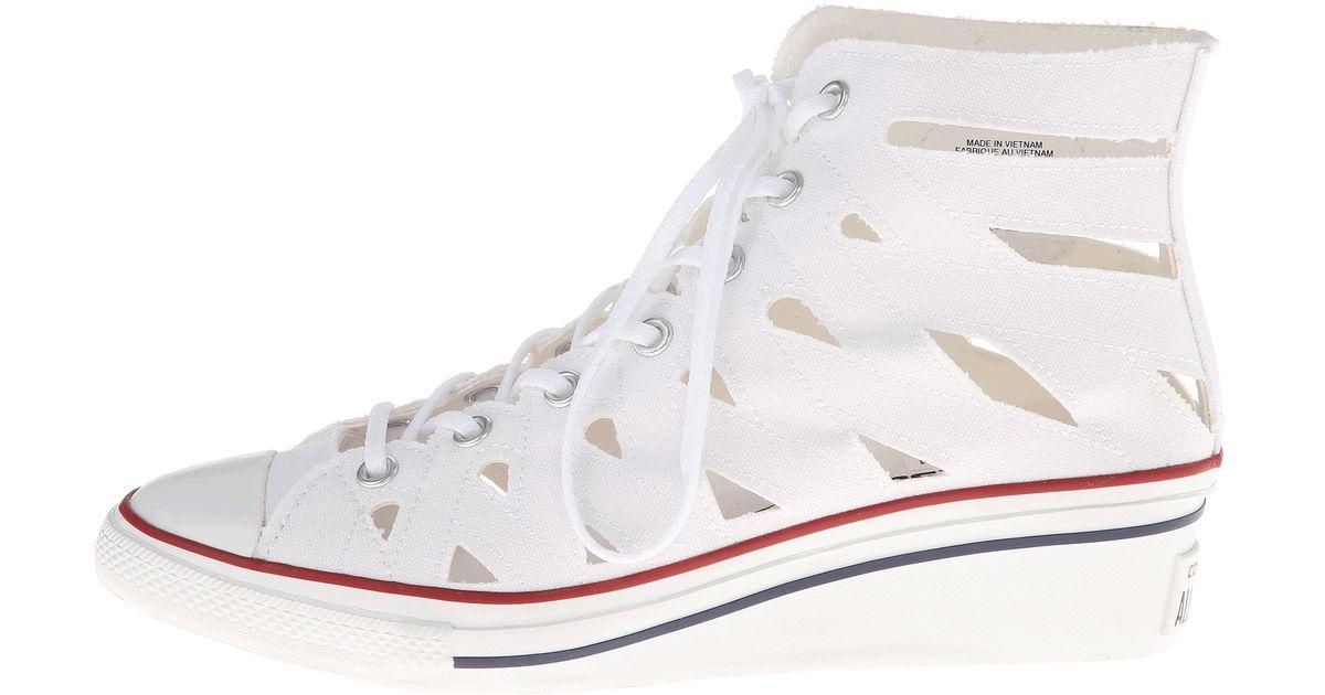 Converse White Chuck Taylor All Star Hiness Cutout