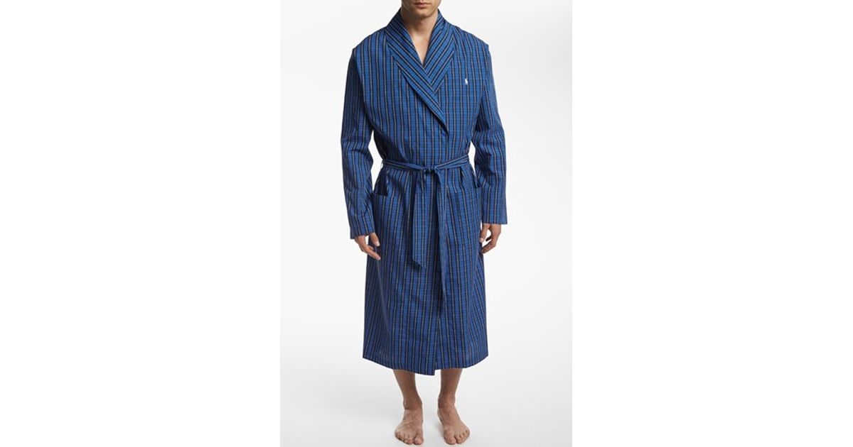 polo ralph lauren woven robe in blue for men lyst. Black Bedroom Furniture Sets. Home Design Ideas