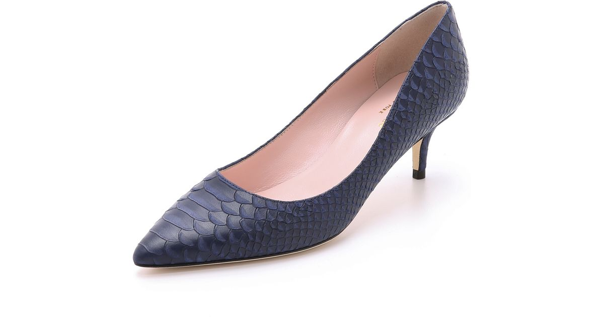 Kate spade new york Melanie Kitten Heel Pumps - Navy in Blue | Lyst