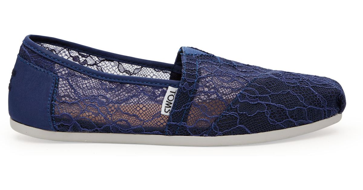 d9a00d61f84 TOMS Ink Lace Women s Classics in Blue - Lyst