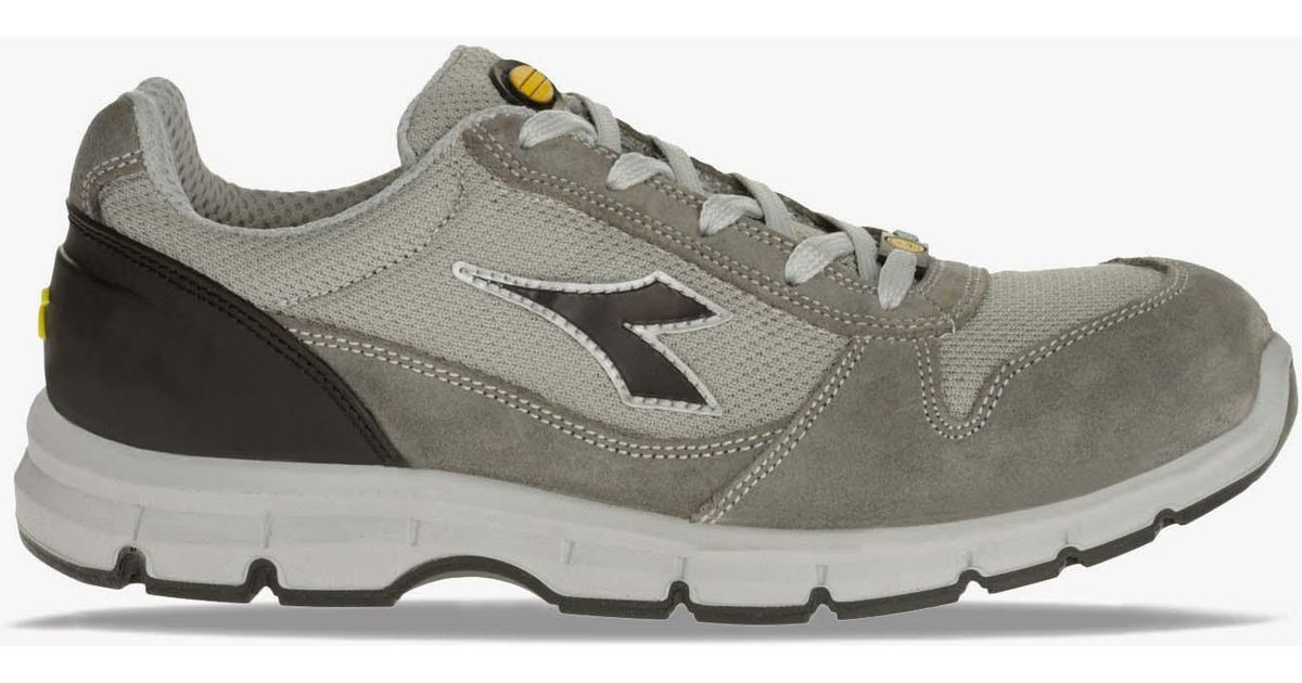 Diadora Run Textile Esd Low S1p Src Esd Gray in Gray - Lyst 74a6f662147