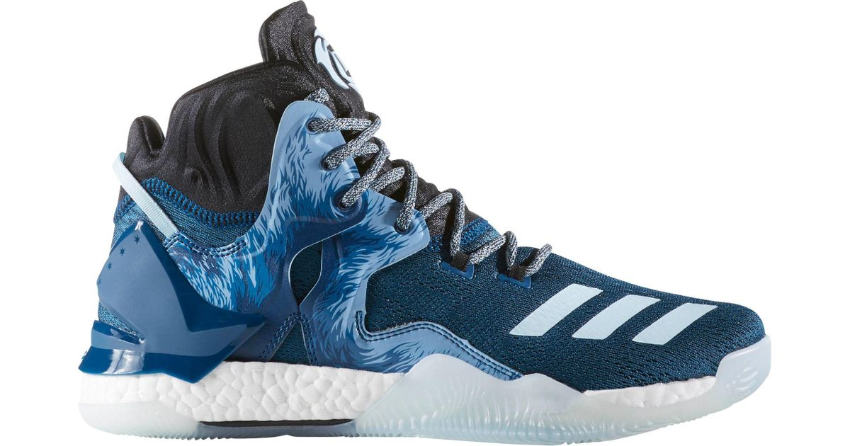 d46705140f33 adidas Originals D Rose 7 Boost Basketball Shoes in Blue for Men - Lyst