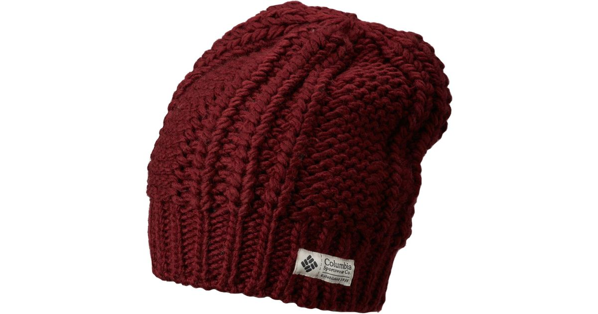 df25578f577e6 Lyst - Columbia Hideaway Haven Slouchy Beanie in Red