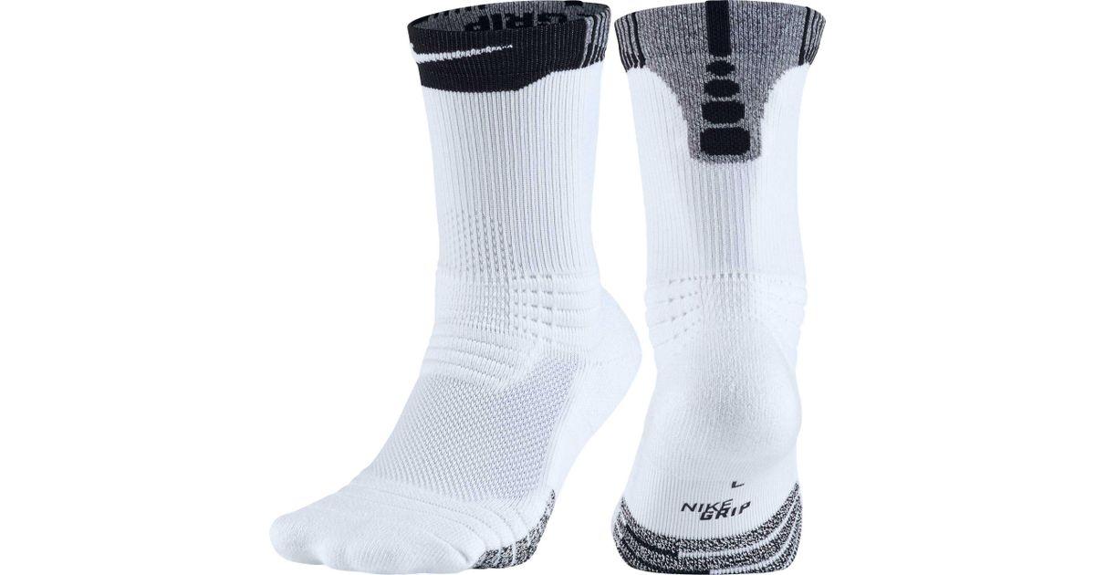2ebb7878fab Lyst - Nike Grip Versatility Crew Basketball Socks in White for Men