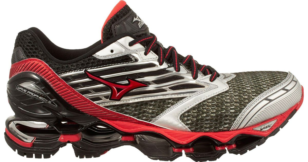 4d3965b3ebf Lyst - Mizuno Wave Prophecy 5 Running Shoes in Red for Men