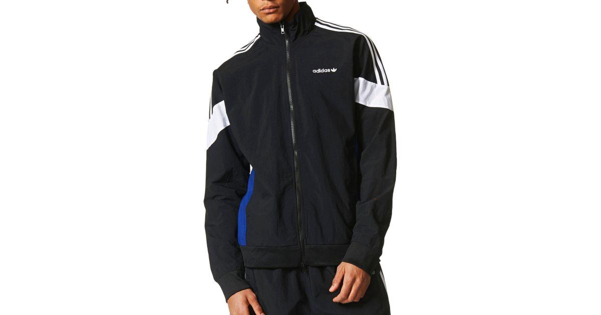 adidas Originals St. Petersburg Challenger Track Jacket in Black for Men