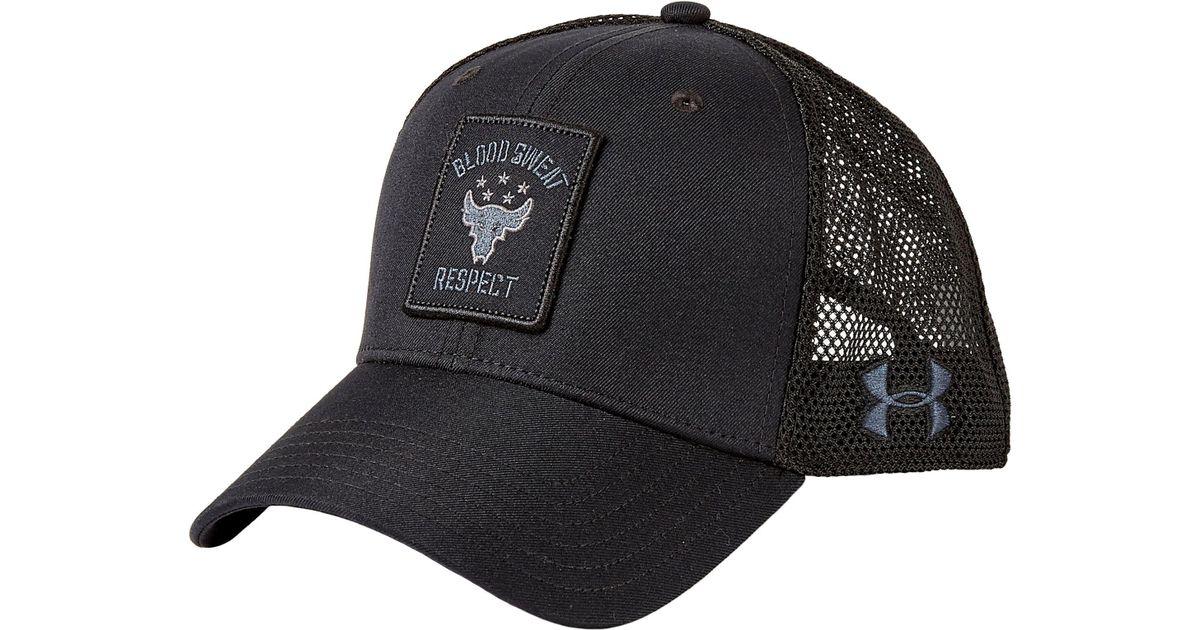 a3d88a2ea8373 ... canada lyst under armour project rock trucker hat in black for men  c4b55 023da