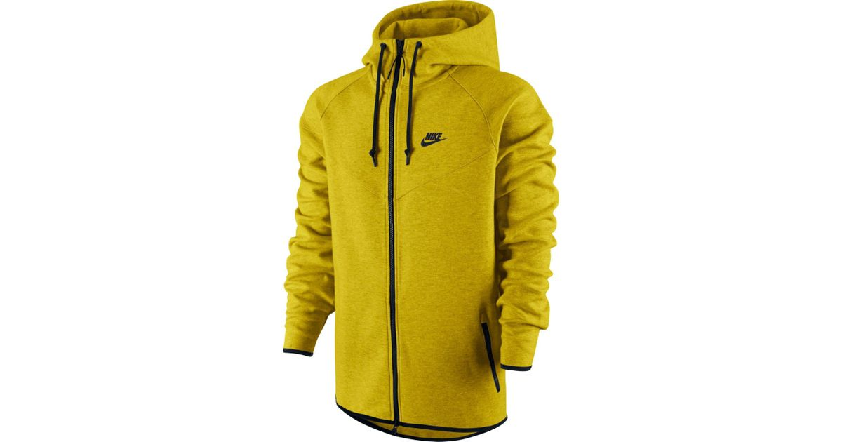 cb73c54655bb Lyst - Nike Tech Fleece Windrunner Full Zip Running Jacket in Yellow for Men