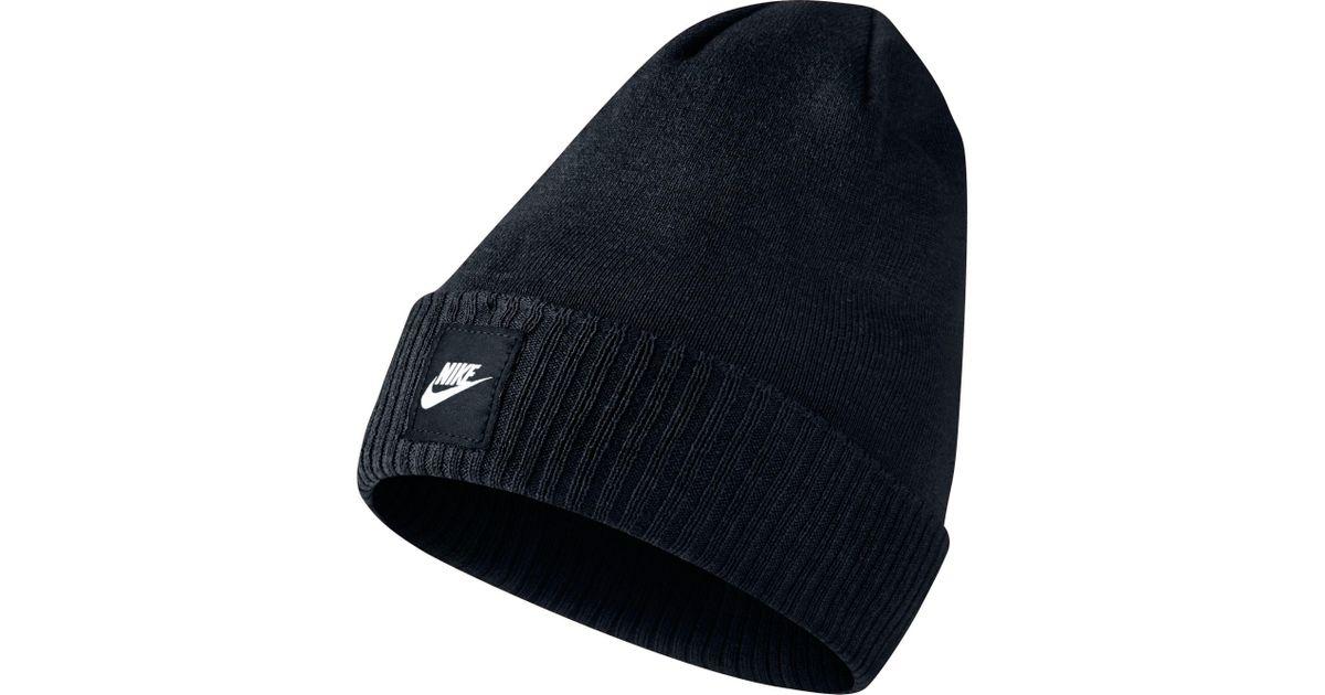 79aa265472e Lyst - Nike Futura Knit Beanie in Black for Men