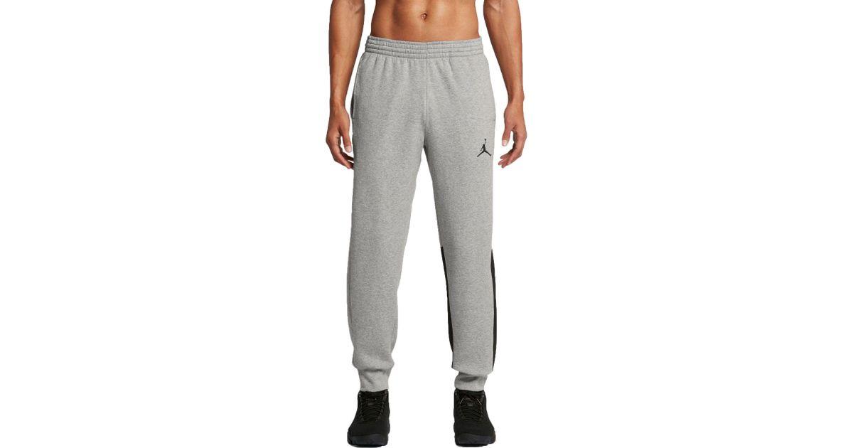 0493abb57126 Lyst - Nike Jumpman Flight Brushed Fleece Pants in Gray for Men