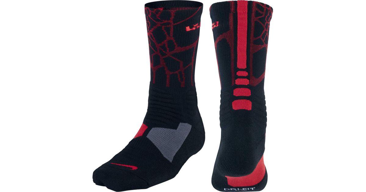 cheap for discount 7e8fa 35f27 ... Lyst - Nike Lebron Hyper Elite Crew Basketball Socks in Black for Men  ...