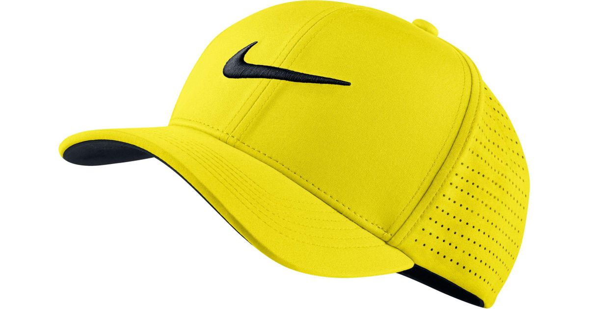 e2a48eef46b2 Lyst - Nike Classic99 Perforated Golf Hat in Yellow for Men