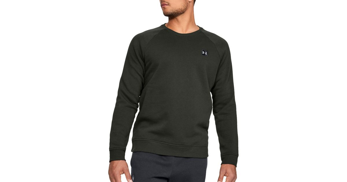 8dfb5f025dce2 Under Armour Rival Fleece Crewneck Sweatshirt in Black for Men - Lyst