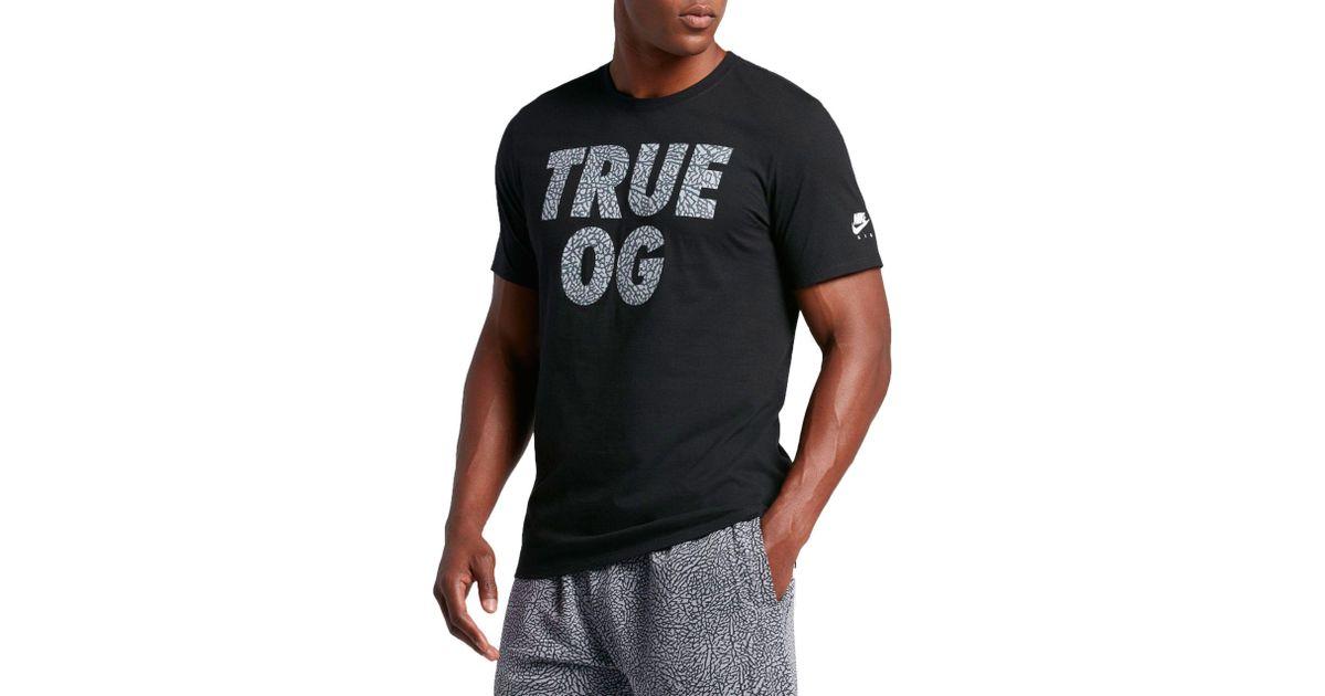 5f3f45e057c6 Lyst - Nike Nike Air 3   true Og   T-shirt in Black for Men