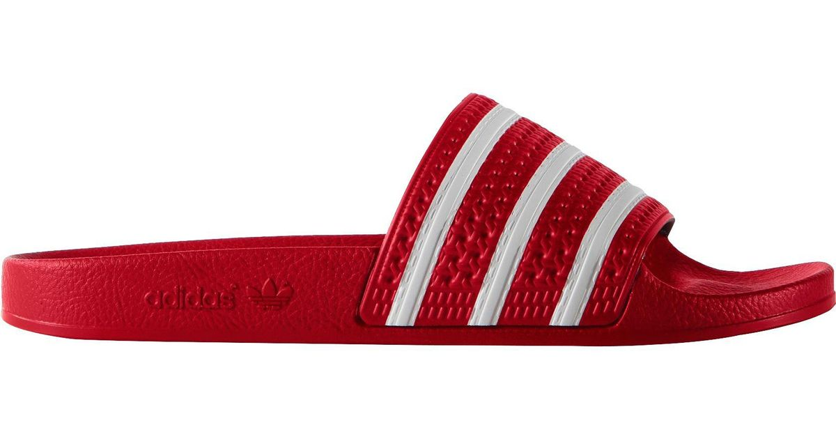 e9ef561ca0425e Lyst - adidas Originals Originals Adilette Slides in Red for Men