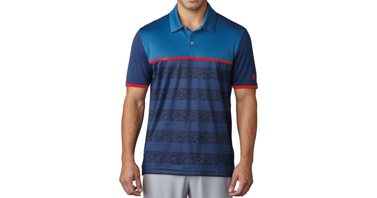 d95e0cb4 adidas Originals Climacool 2d Camo Stripe Golf Polo in Blue for Men - Lyst