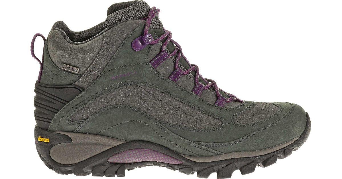 6cf12b1b084ab Lyst - Merrell Siren Mid Waterproof Hiking Boots