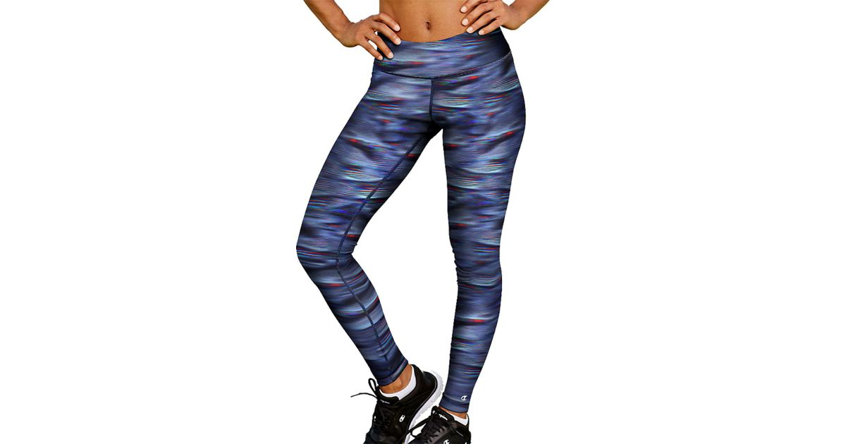 00f4be744ca7 Lyst - Champion Absolute Smoothtec Band Printed Tights in Blue
