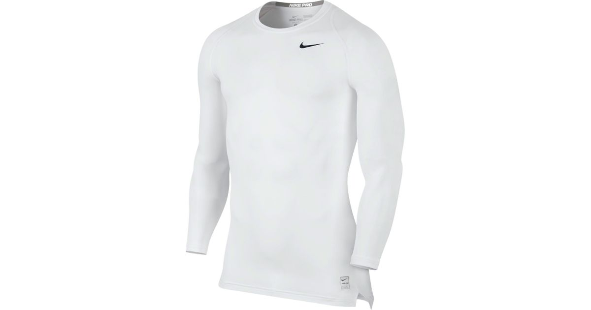 533c226d Nike Pro Cool Long Sleeve Compression Shirt in White for Men - Lyst