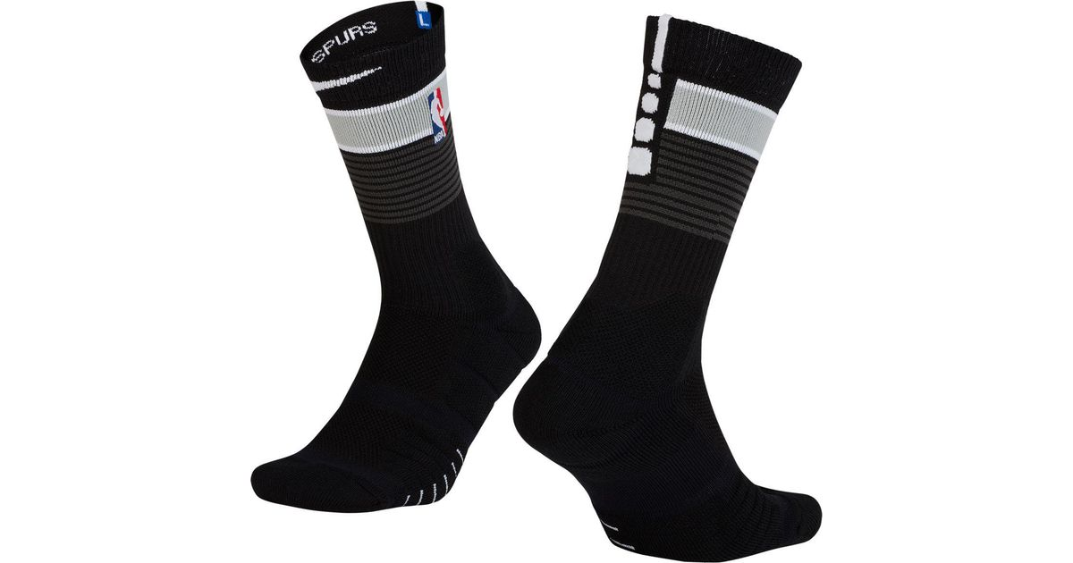 Lyst - Nike San Antonio Spurs City Edition Elite Quick Nba Crew Socks in  Black for Men 0b93bd684