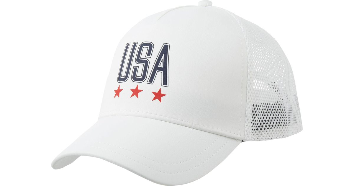 79073cf841b ... usa lyst under armour usa snapback hat in white for men b073a 2d71b