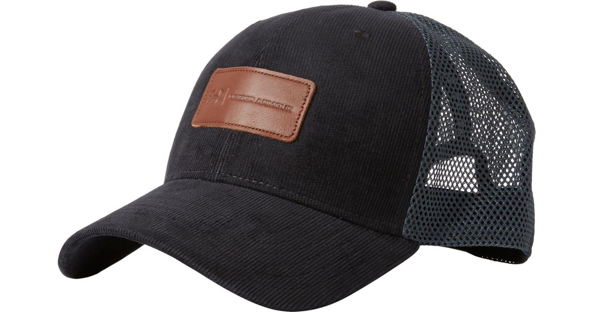 b70ea9ab79c ... hot lyst under armour odp trucker hat in black for men 788d4 bb3da ...
