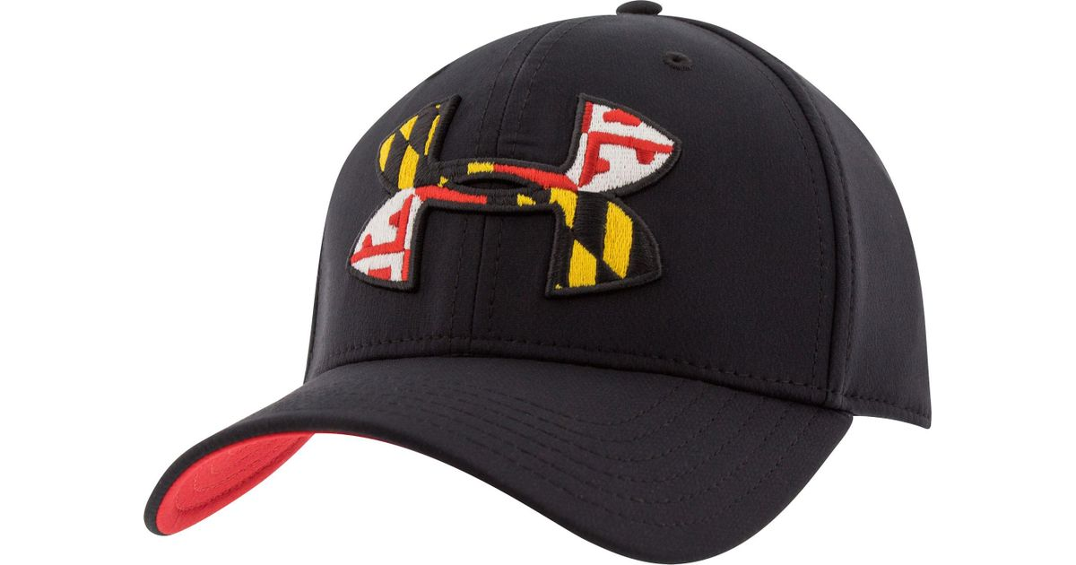 Lyst - Under Armour Maryland Flag Big Logo Low Crown Hat in Black for Men e4ab8ef38e8