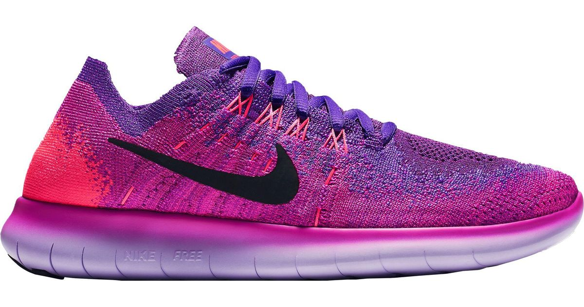 5ec628a5a0808 ... discount lyst nike free rn flyknit 2017 running shoes in purple 1032c  974d2
