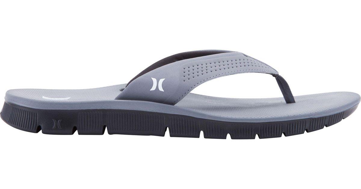 0cfada46d Lyst - Hurley Fusion Flip Flops in Gray for Men